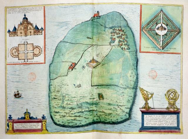 Uraniborg old map